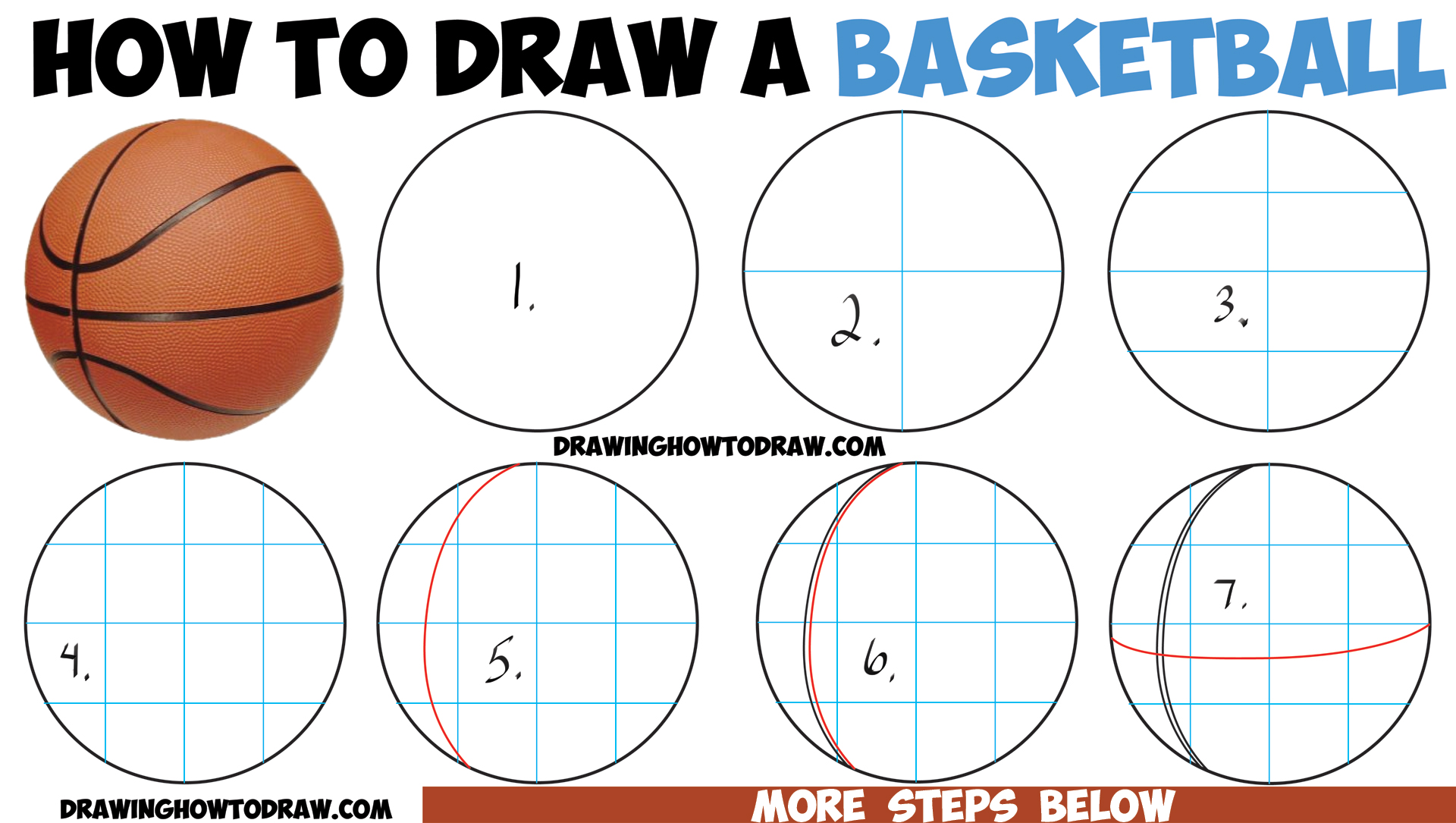 1920x1085 How To Draw A Basketball In Easy Step By Step Drawing Tutorial