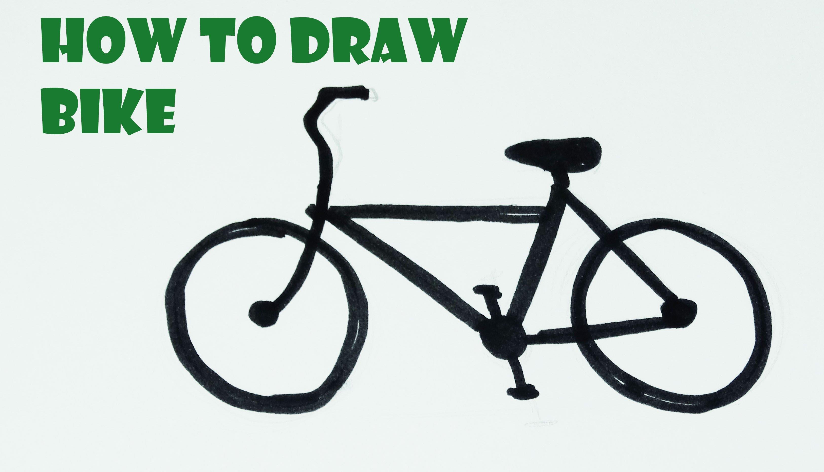 3252x1865 How To Draw A Cartoon Bike