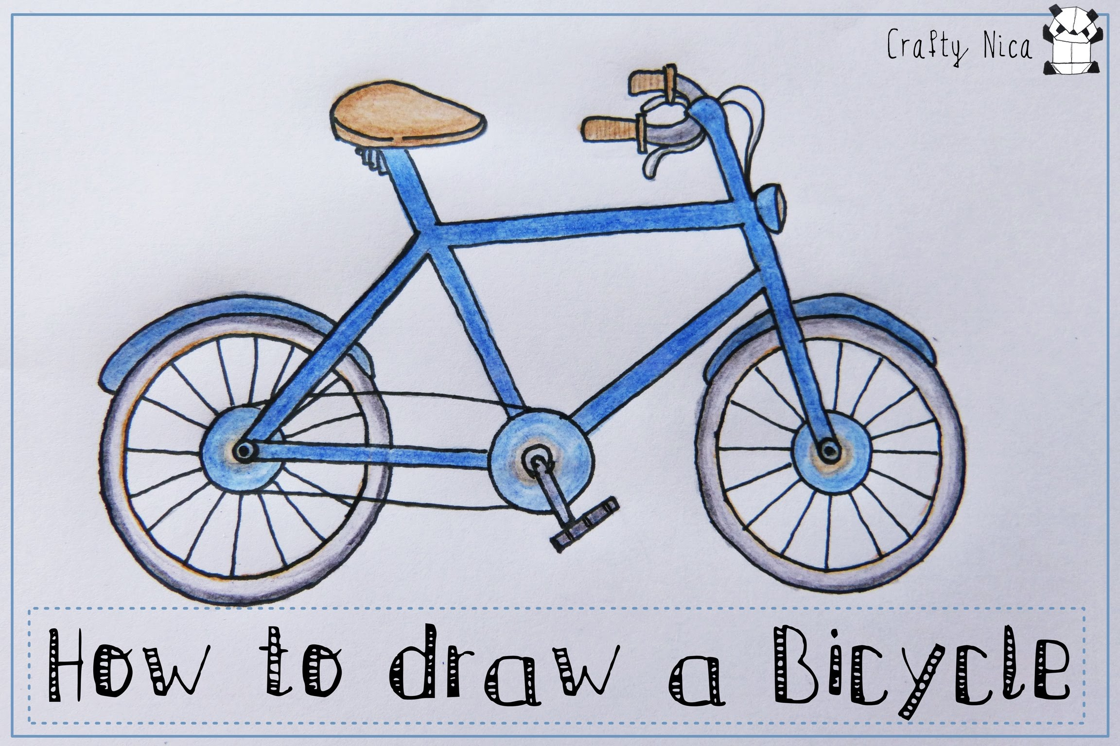 2304x1536 How To Draw A Bicycle (Bike). Easy Drawing Tutorial For Kids