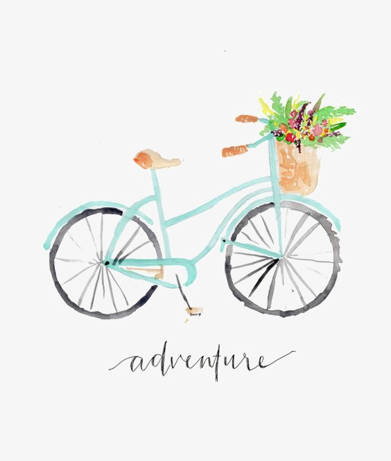 564x666 Bicycle, Hand Painted Bicycle, Drawing Cycling, Simple Png Image