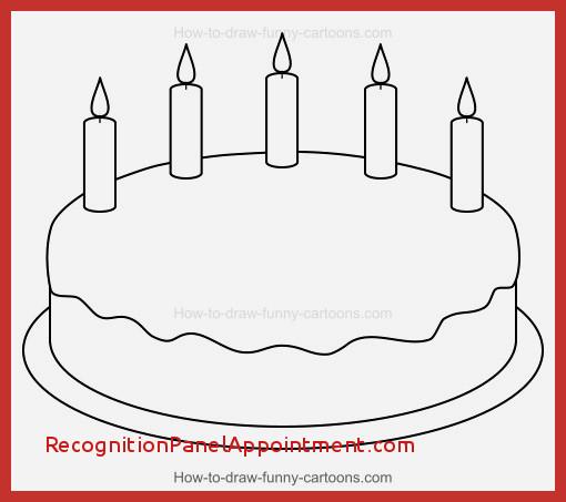 510x453 Beautiful Simple Birthday Cake Drawing