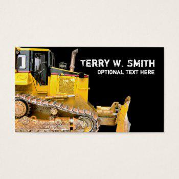 350x350 Bulldozer Business Cards Business Cards 100