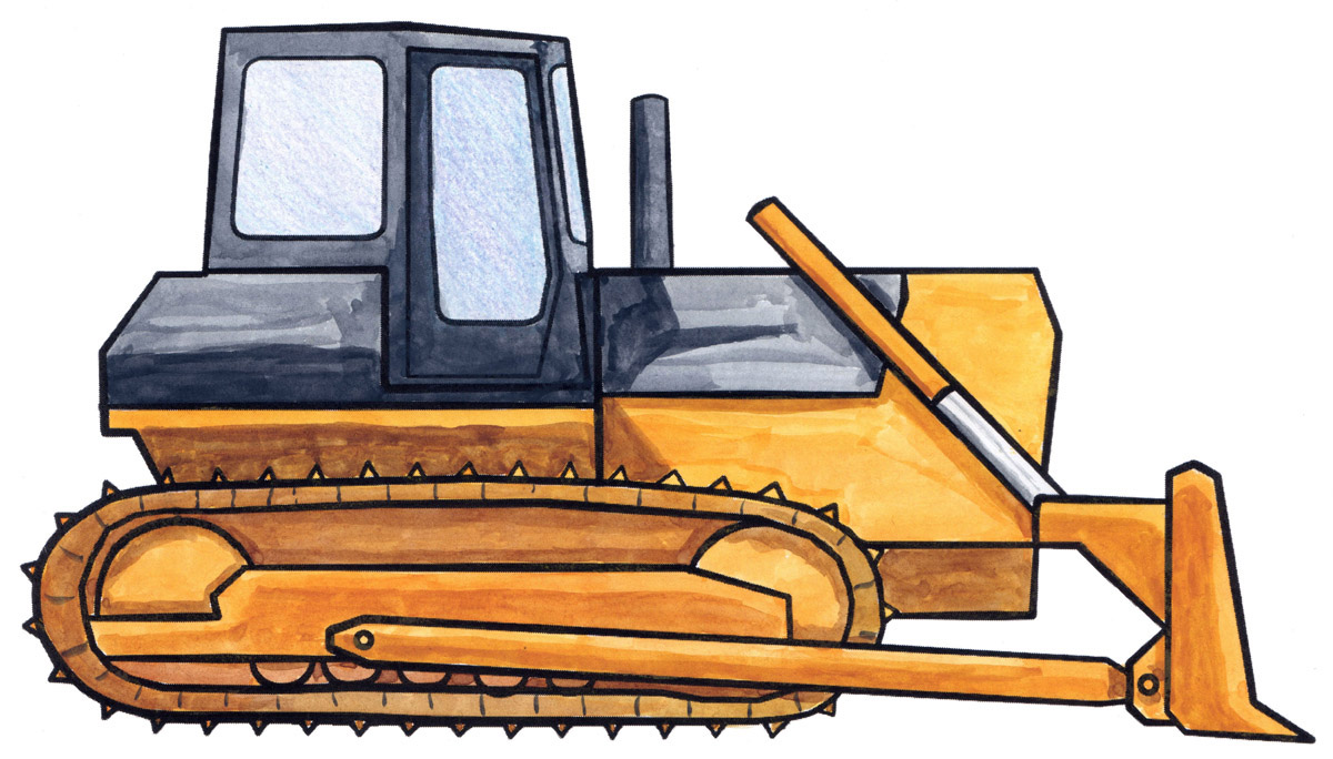 1200x684 How To Draw An Orange Bulldozer! Did You Know That The Modern Day