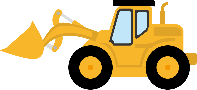 789x361 Image Of Bulldozer Clipart
