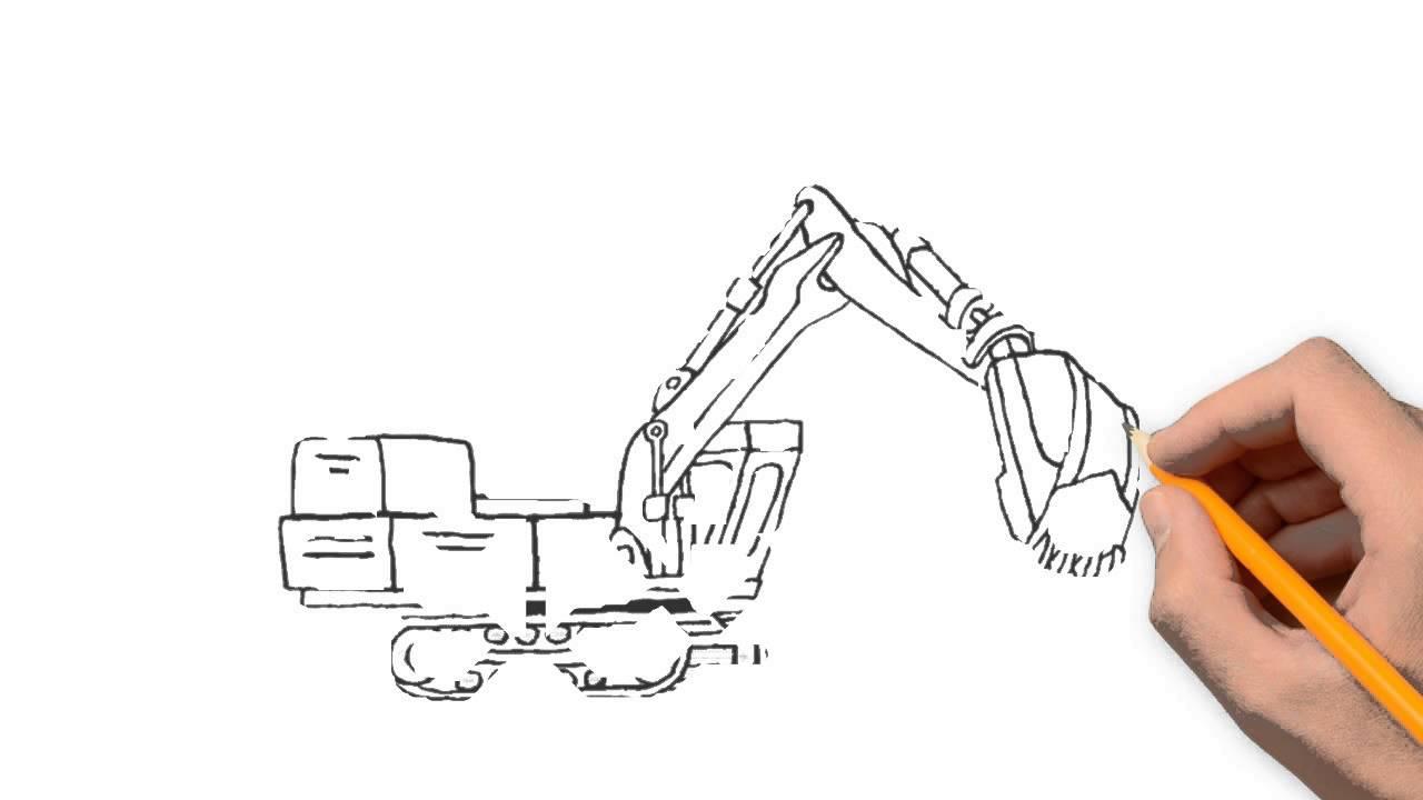 1280x720 Dozer Transport Pencil To Draw Step By Step