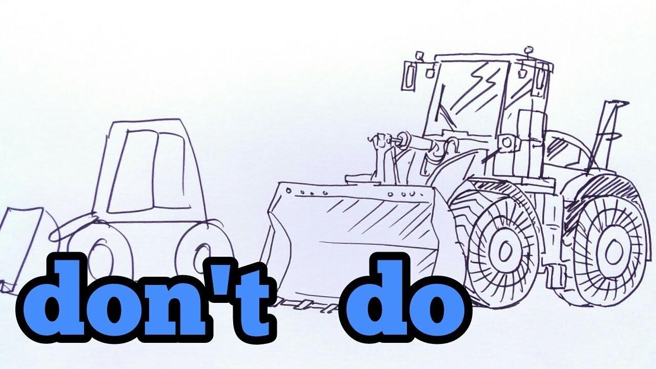 1280x720 How To Draw Bulldozer ( Cara Menggambar Bulldozer)