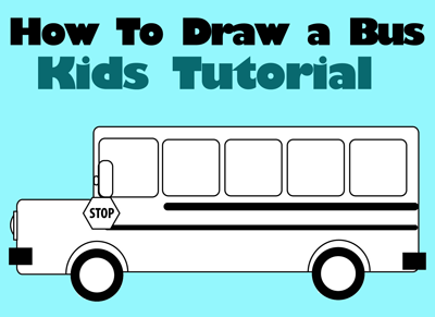 400x291 How Draw School Busses Easy Drawing Tutorial For Kids How