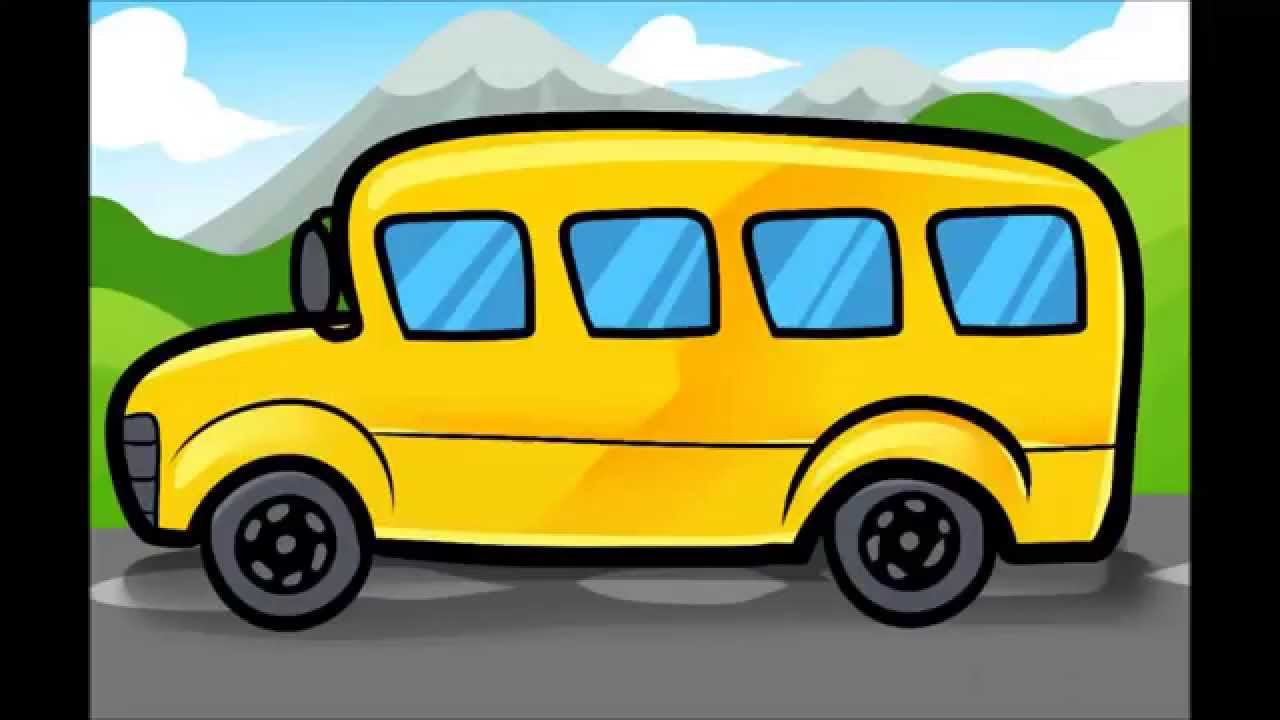 1280x720 How To Draw A School Bus Step By Step