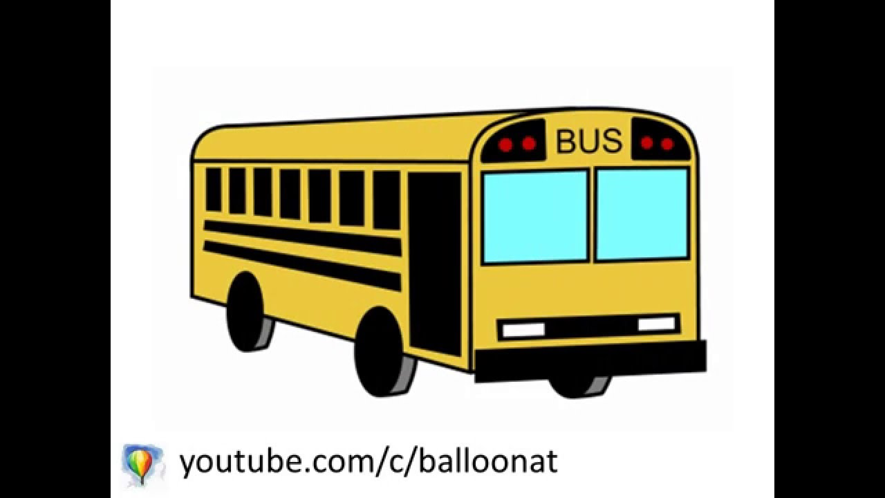 1280x720 How To Draw Bus Step By Step For Kids