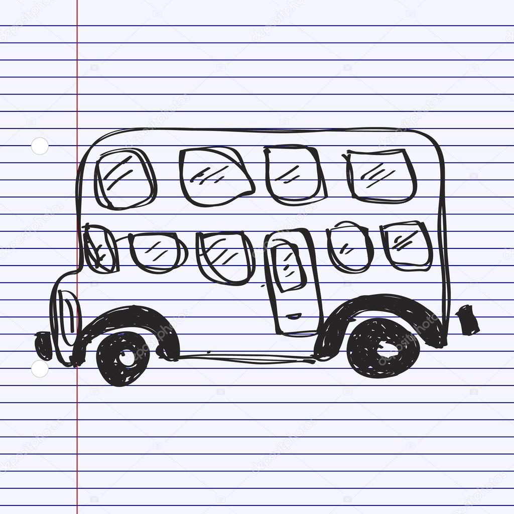 1024x1024 Simple Doodle Of A Bus Stock Vector Chrishall