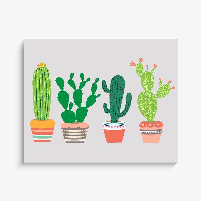 800x800 Cactus Garden Art Print Garden Art, Cacti And Gardens