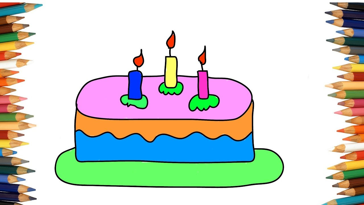 1280x720 How To Draw Cake Simple
