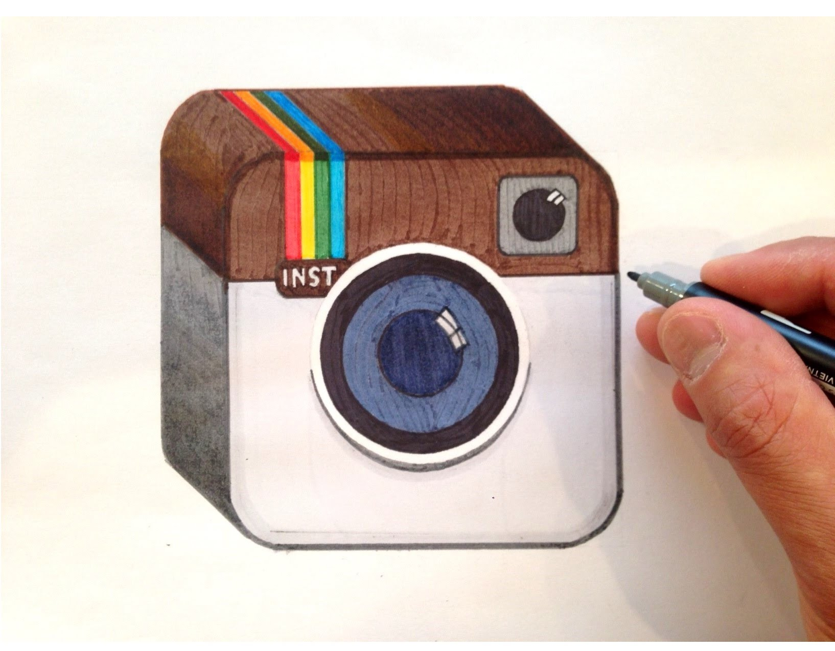 1634x1274 How To Draw The Instagram Logo In 3d