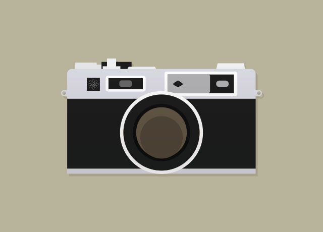 640x460 Simple Illustrations Of Iconic Vintage Film Cameras
