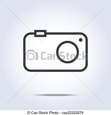 450x470 Simple Camera Icon Gray Color. Vector Illustration Vectors