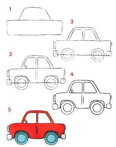 236x299 Very Easy Car To Draw For Little Kids Baby Carriage, Drawings