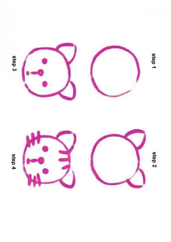 601x850 How To Draw A Simple Cat Simple Art Cat, Draw
