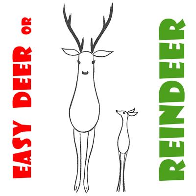 400x400 How To Draw Easy Reindeer Or Deer For Preschoolers And Kids