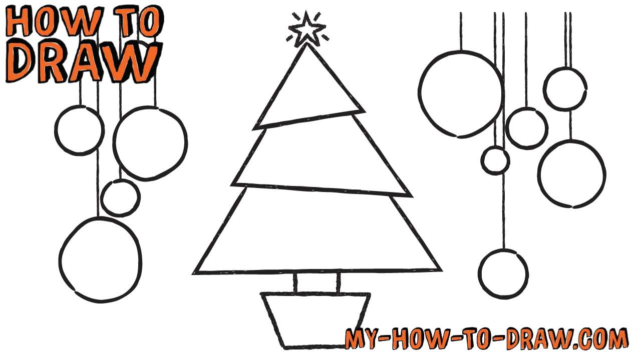 1280x720 How To Draw A Christmas Tree Card