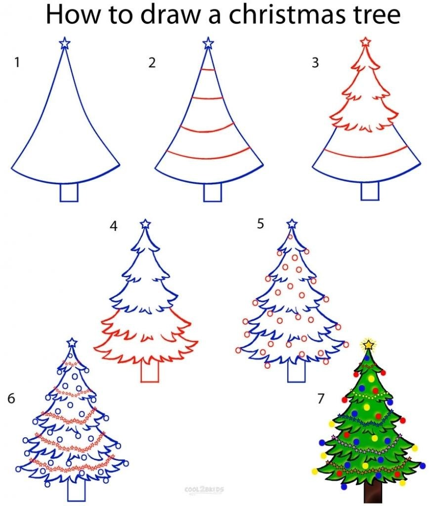 how to simply draw a tree