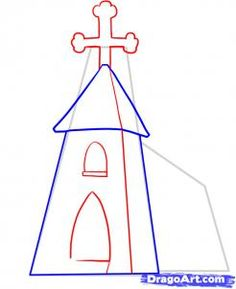 236x289 How To Draw A Church Step By Step Simple Easy Tutorial