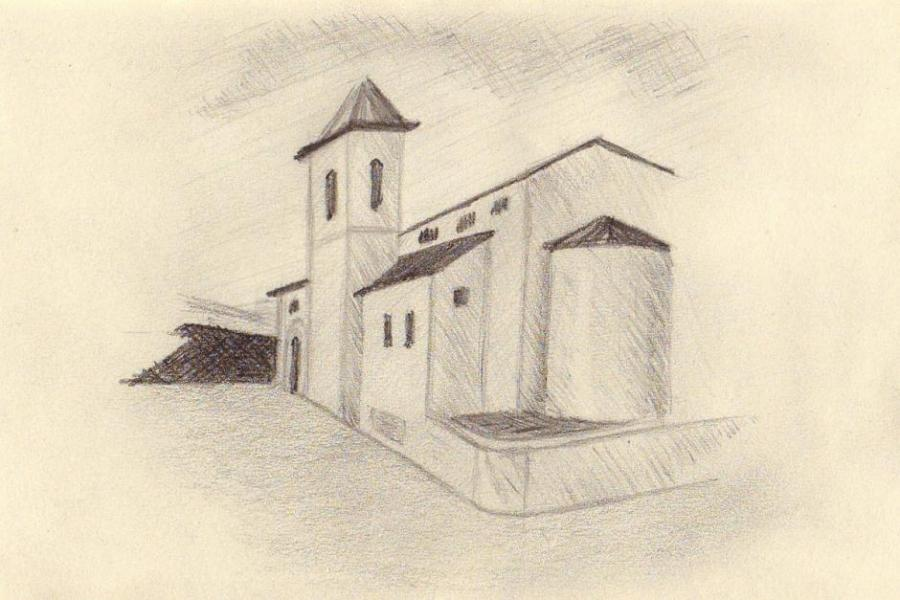 900x600 Romanic Church. Life People. Drawings. Pictures. Drawings Ideas
