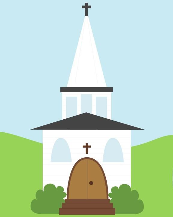 576x720 New Custom Drawing Church Calobee Doodles