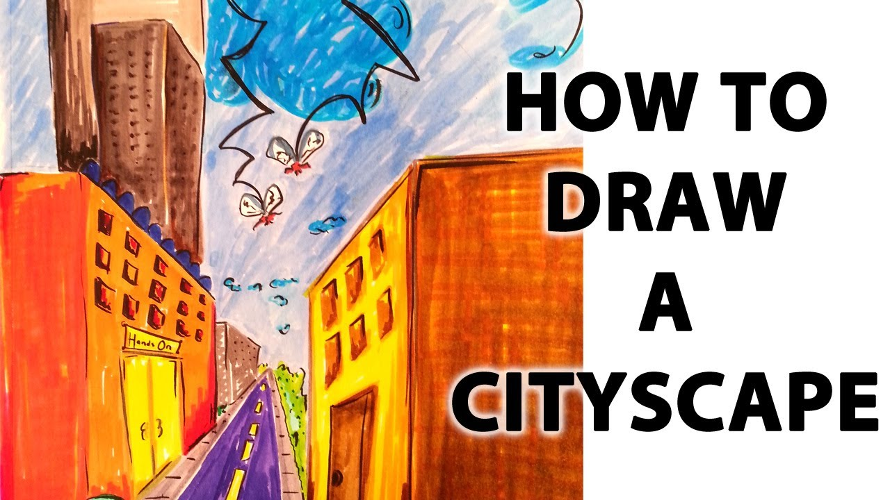 1280x720 How To Draw A Cityscape In Perspective