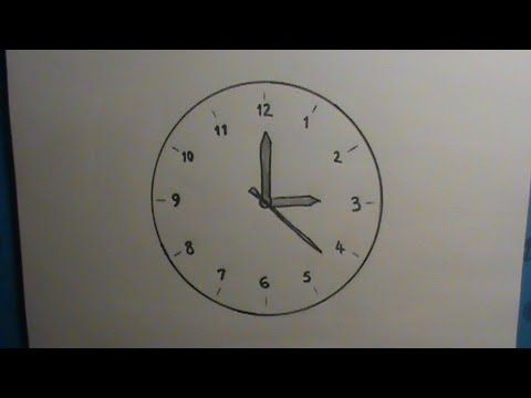 480x360 How To Draw A Clock
