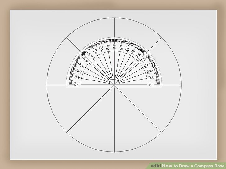 728x546 How To Draw A Compass Rose 12 Steps (With Pictures)