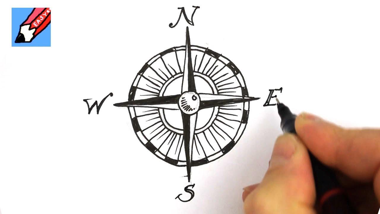 1280x720 How To Draw A Compass Design