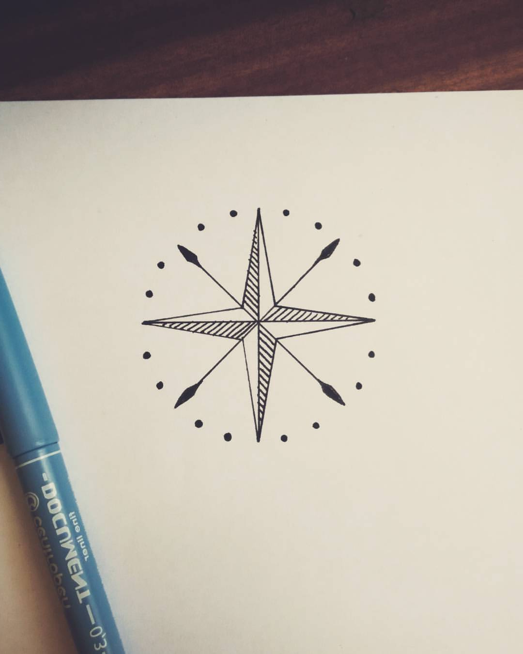 1080x1350 Simple Compass Tattoo Designs