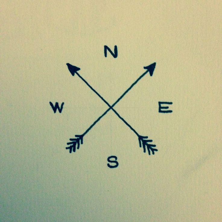 736x736 Simple Arrow Compass Tattoo