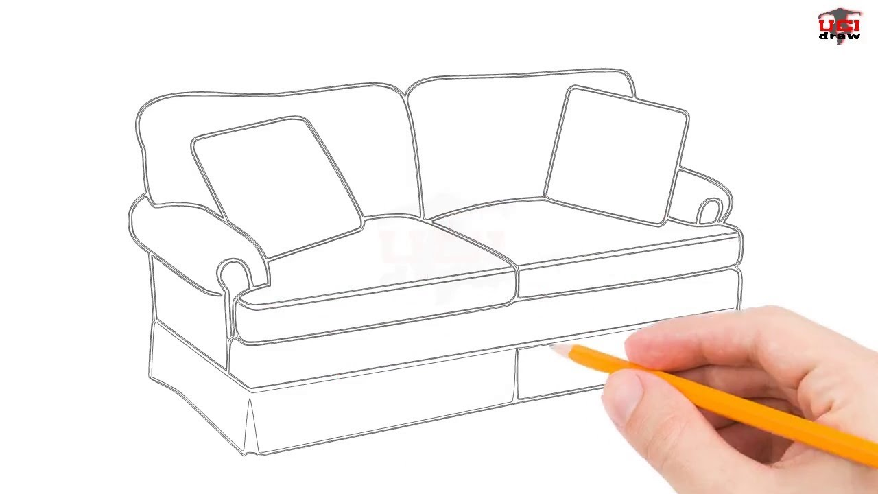 1280x720 How To Draw A Couch Step By Easy For BeginnersKids AEUR Simple