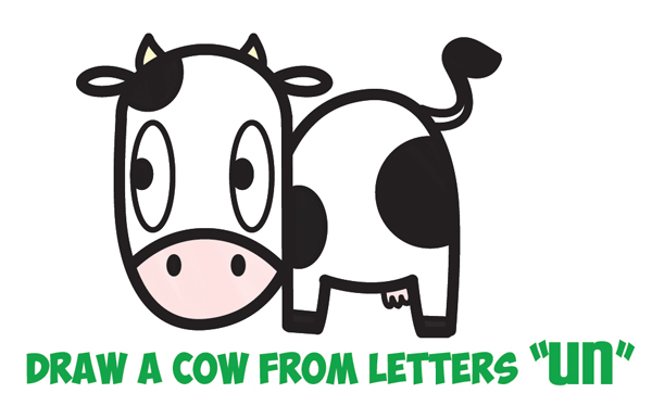 600x374 how to draw a cute cartoon kawaii cow easy step by step drawing
