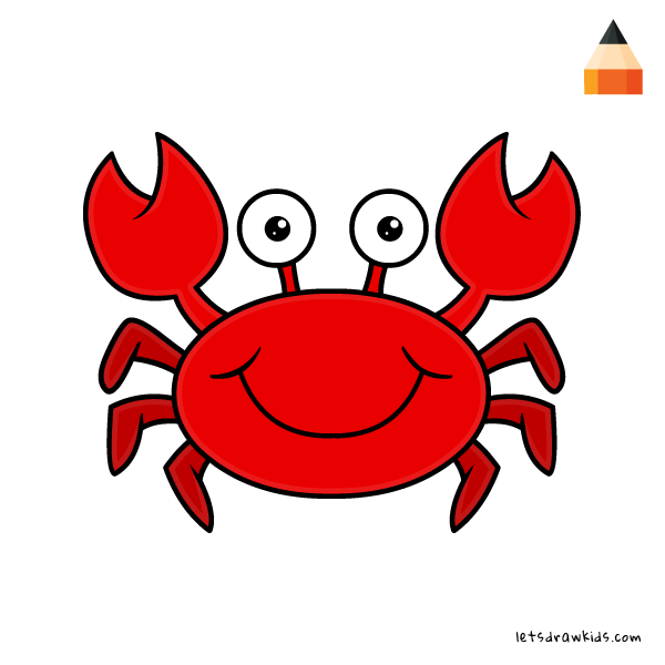 Simple Crab Drawing at GetDrawings.com | Free for personal ...  Simple Crab Dra...