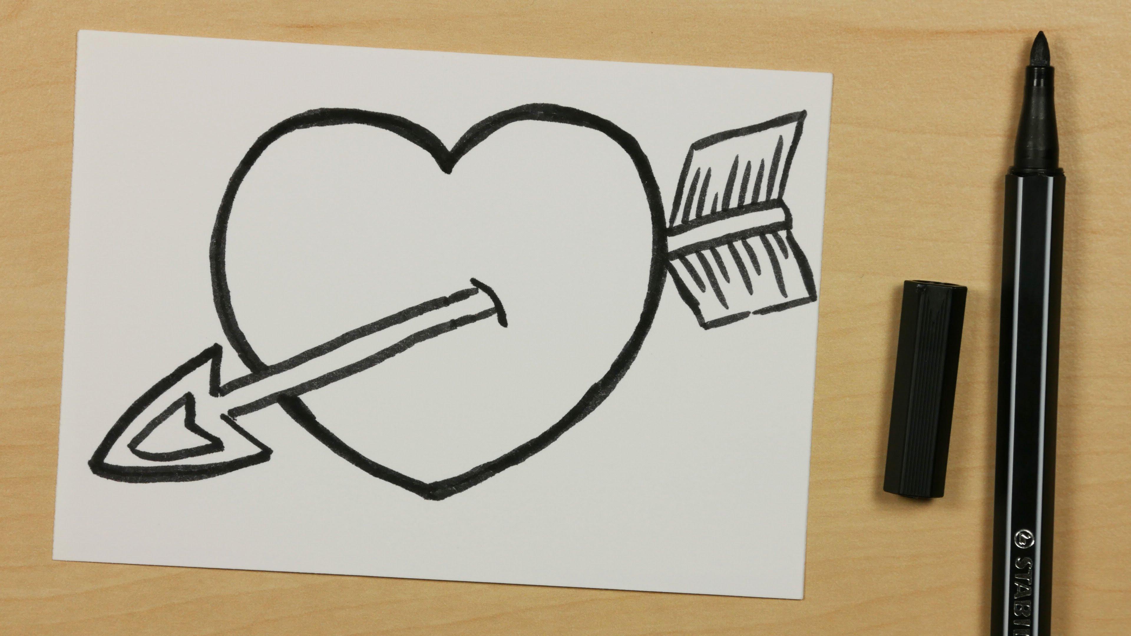 3840x2160 How To Draw A God Cupid Arrow Heart
