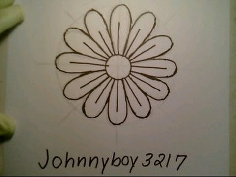 480x360 How To Draw A Daisy Flower Easy For Everyone Como Dibujar Una Flor
