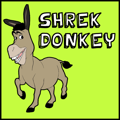 400x400 How To Draw Donkey From Shrek With Easy Step By Drawing