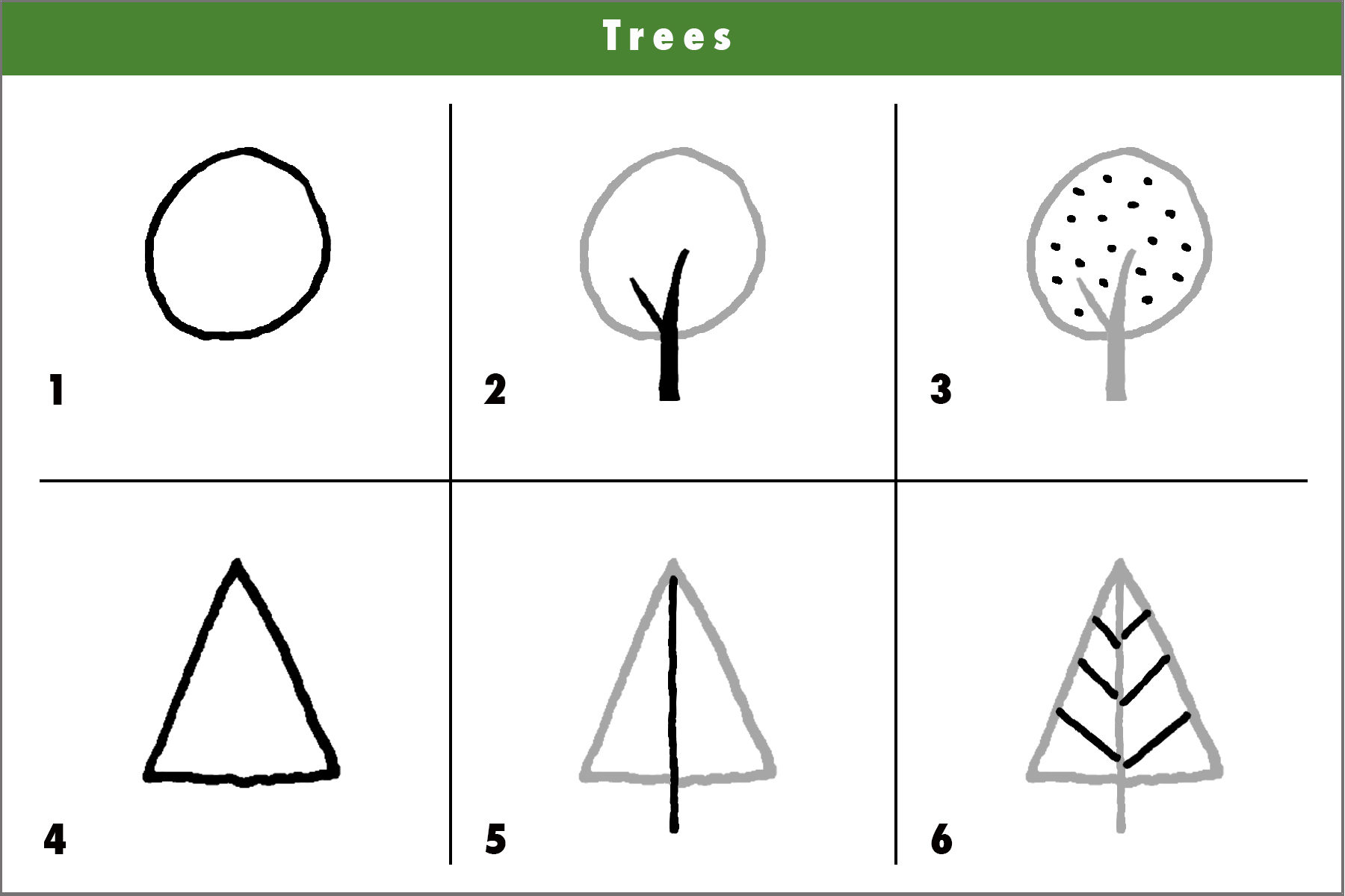 How to draw a tree with children in a fun and easy way 39