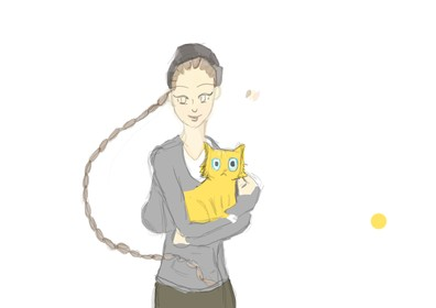 396x280 I Need A Simple Drawing Of A Girl And Her Cat Freelancer