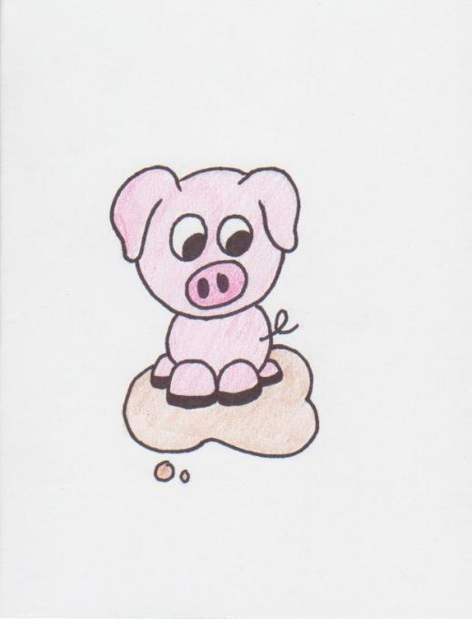 519x680 Pig In Mud. Nature. Drawings. Pictures. Drawings Ideas For Kids