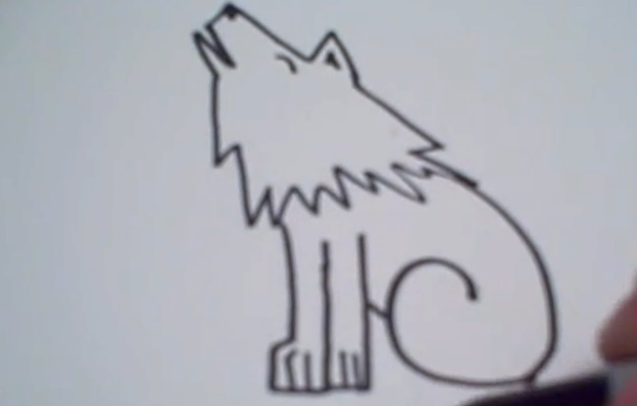 1239x790 How To Draw A Cartoon Wolf