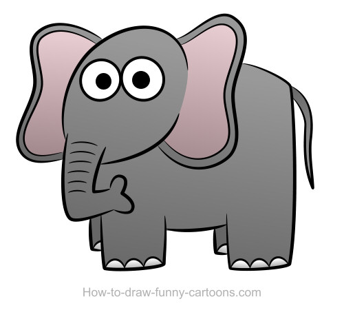 500x463 Elephant Drawing (Sketching + Vector)