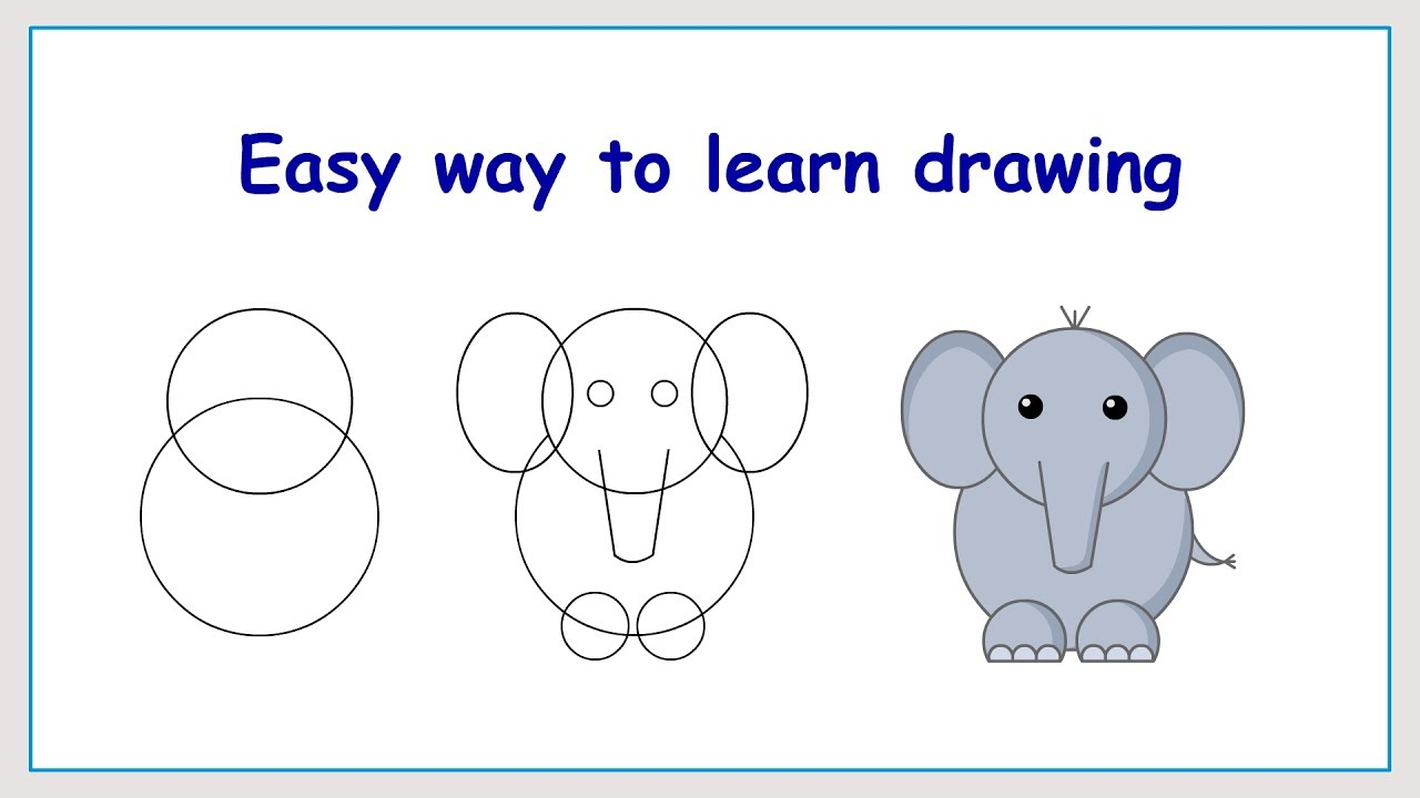 1280x720 Learn How To Draw Elephant In A Simple Way