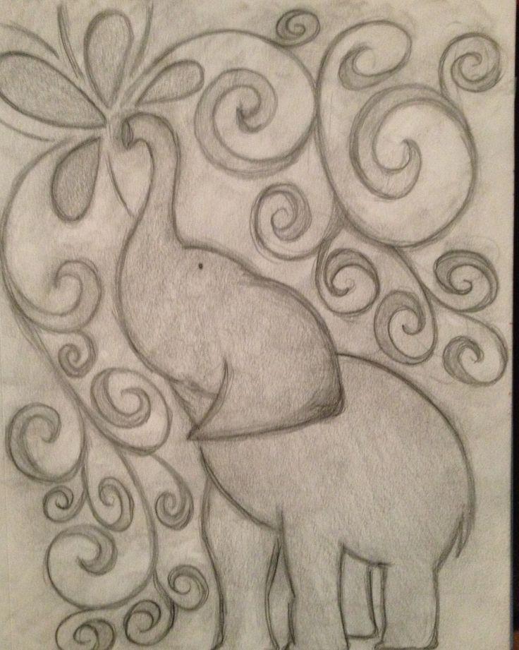 736x921 Easy Elephant Drawing Tumblr