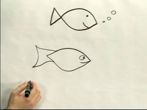 480x360 Easy Cartoon Drawing How To Draw A Cartoon Fish