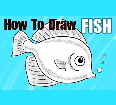 400x360 How To Draw A Cute Fish Cartoon With Simple Steps For Kids