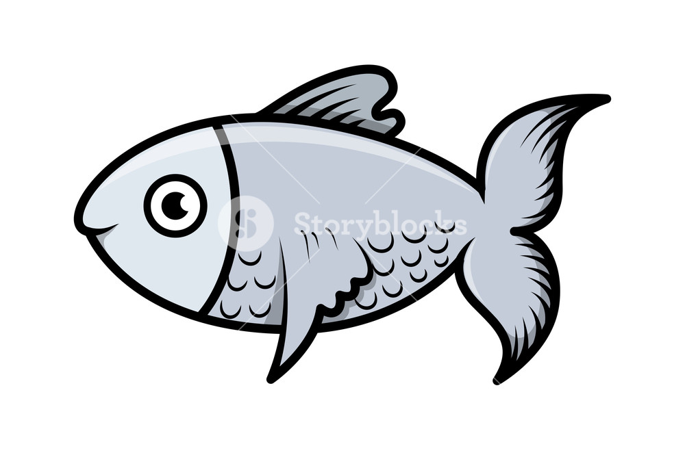1000x662 Simple Cartoon Fish Illustration Royalty Free Stock Image