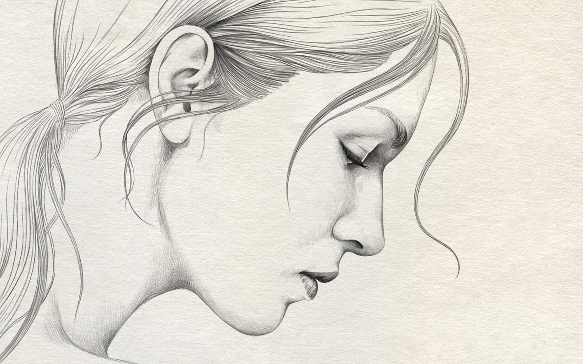 1920x1201 Art Drawings Simple Girl